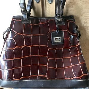 Dooney & Bourke Patent leather croc  print bag